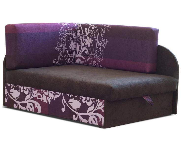 Ecksofa Kindersofa Schlaffunktion Kissen lila bis 163 cm Wohnzimmer