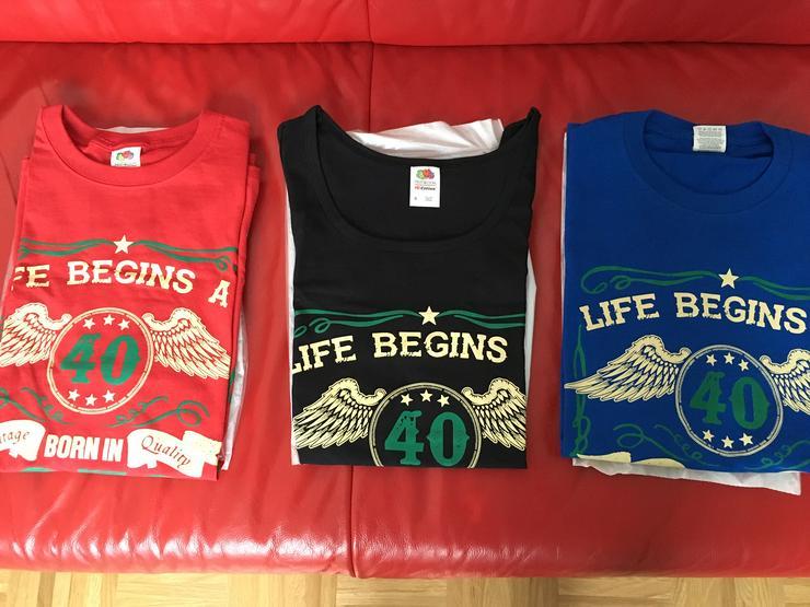 3 Shirts 1979 Vintage in Farbe rot, blau und schwarz, Gr + L/M; Neu