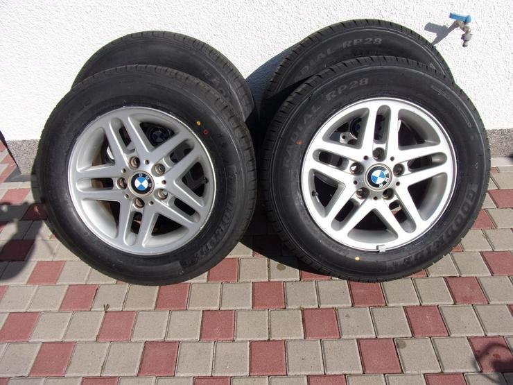 4 neue Sommerreifen Goodride 195/65 R15, 91H auf BMW Alufelgen.