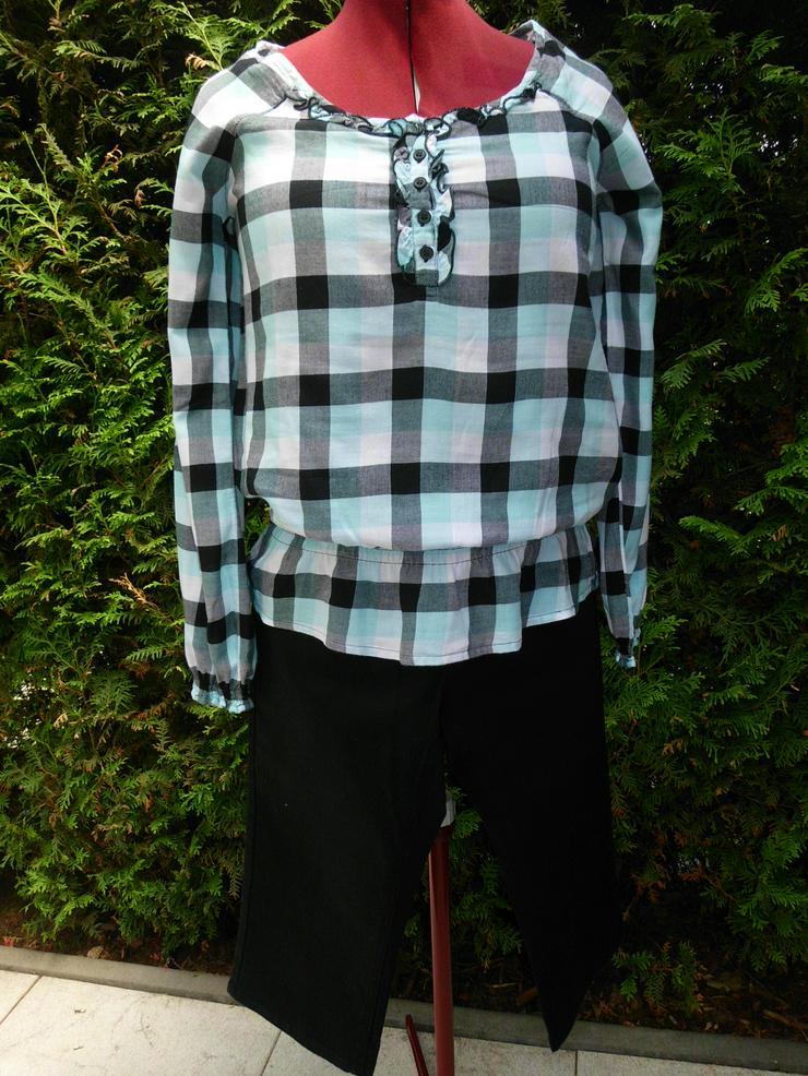 Karierte Blusen Shirt