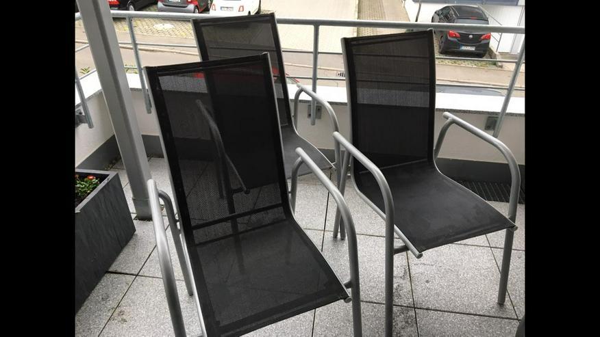 3 Gartenstühle - Silber - Leicht - Bequem - Top-Zustand