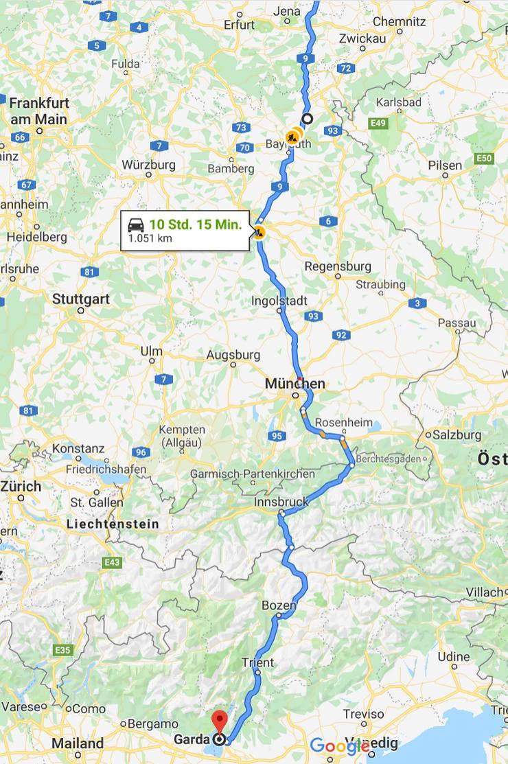 Ladung/Beiladung Berlin-Italien und da zwichen Umzug für Privar Firmen ab. 24.4