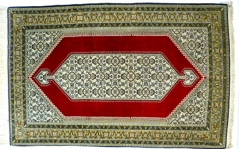 Orientteppich Ghom mit Seide 220x138 TOP (T035) - Fliesen & Teppiche - Bild 1