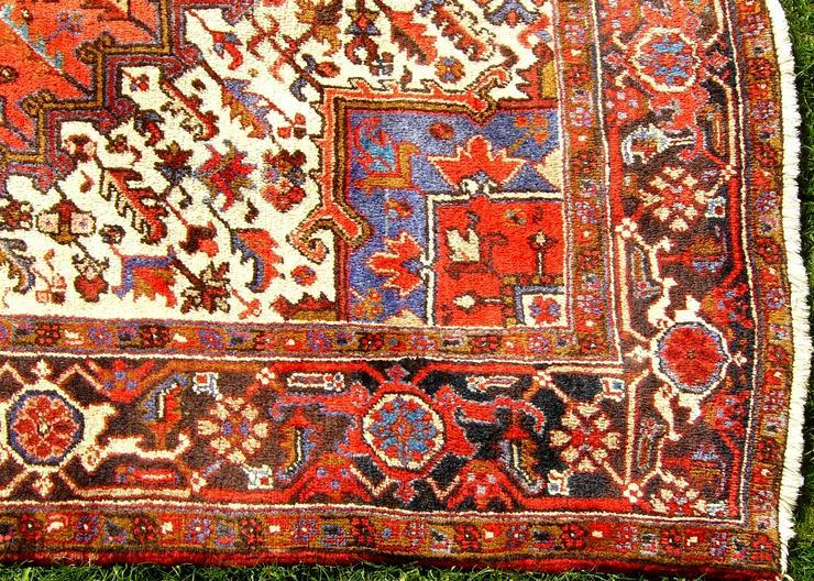 Bild 5: Orientteppich Heriz antik 348x235 (T095)