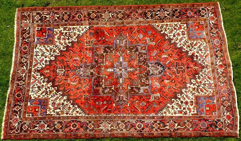 Orientteppich Heriz antik 348x235 (T095) - Fliesen & Teppiche - Bild 1