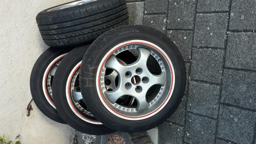 Biete 4 Alufelgen mit Reifen