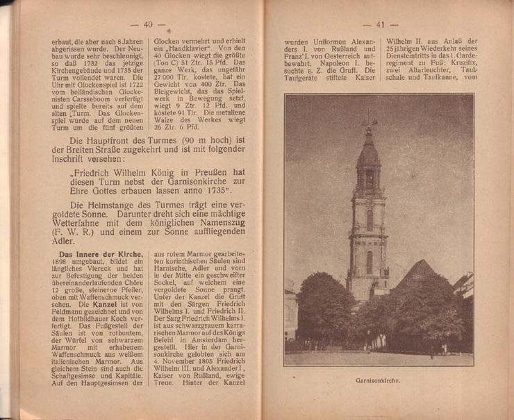 Bild 2: Buch - Potsdam die Kunst- und Gartenstadt - Führer durch Potsdam und Umgebung