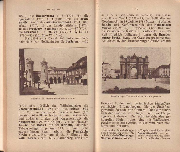 Bild 3: Buch - Potsdam die Kunst- und Gartenstadt - Führer durch Potsdam und Umgebung