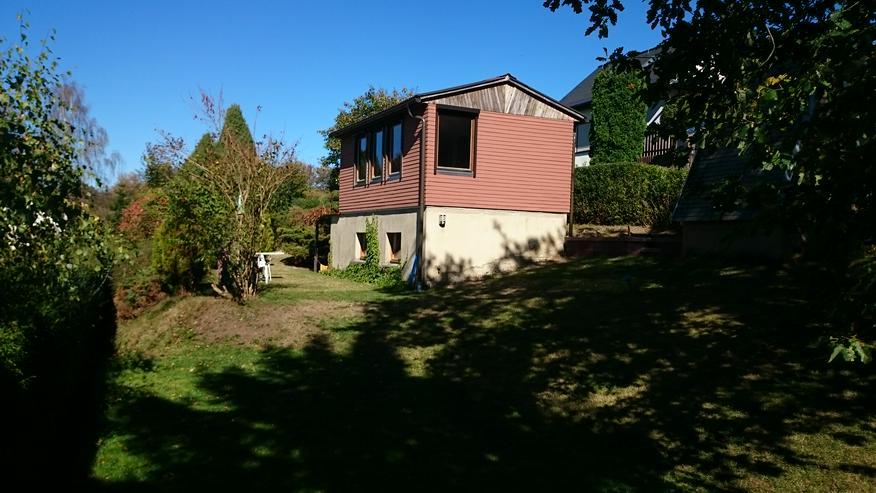 Privatgarten mit Sommerhaus im Erzgebirge