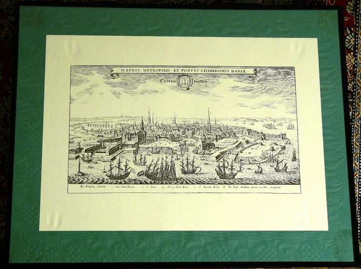 Alter Kupferstich von Kopenhagen (B057)