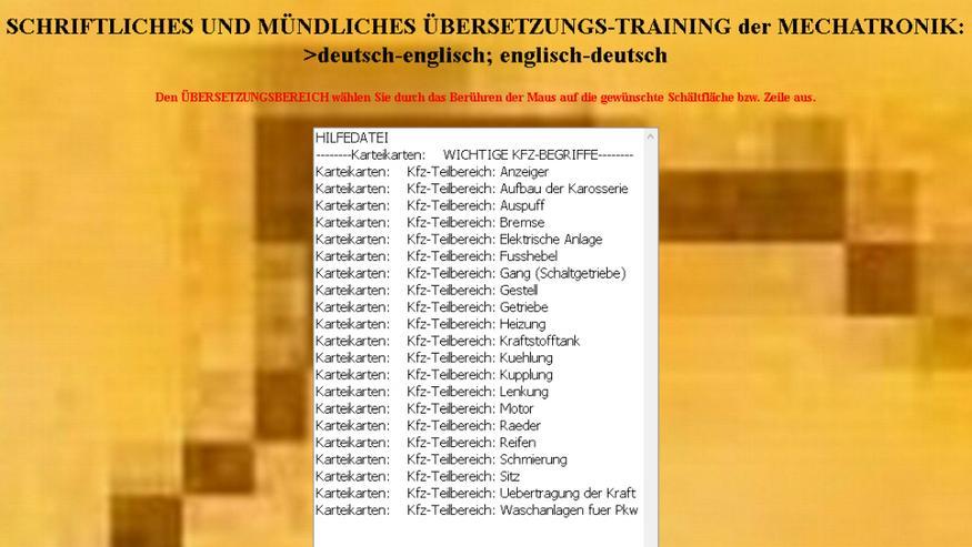 Bild 3: 13000 uebersetzte Mechatronik-Lernkarten: deutsch-englisch Karteikarten-Trainer