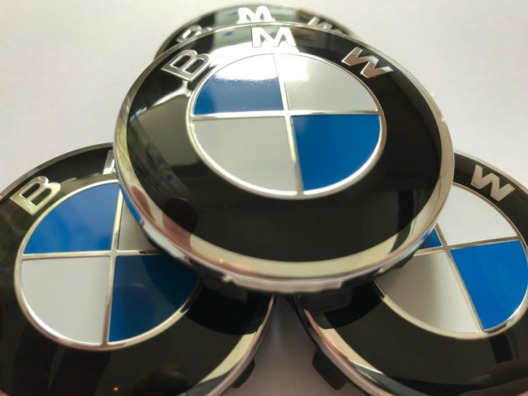 4 Stück NEU BMW 56mm NABENKAPPEN Nabendeckel 36136850834