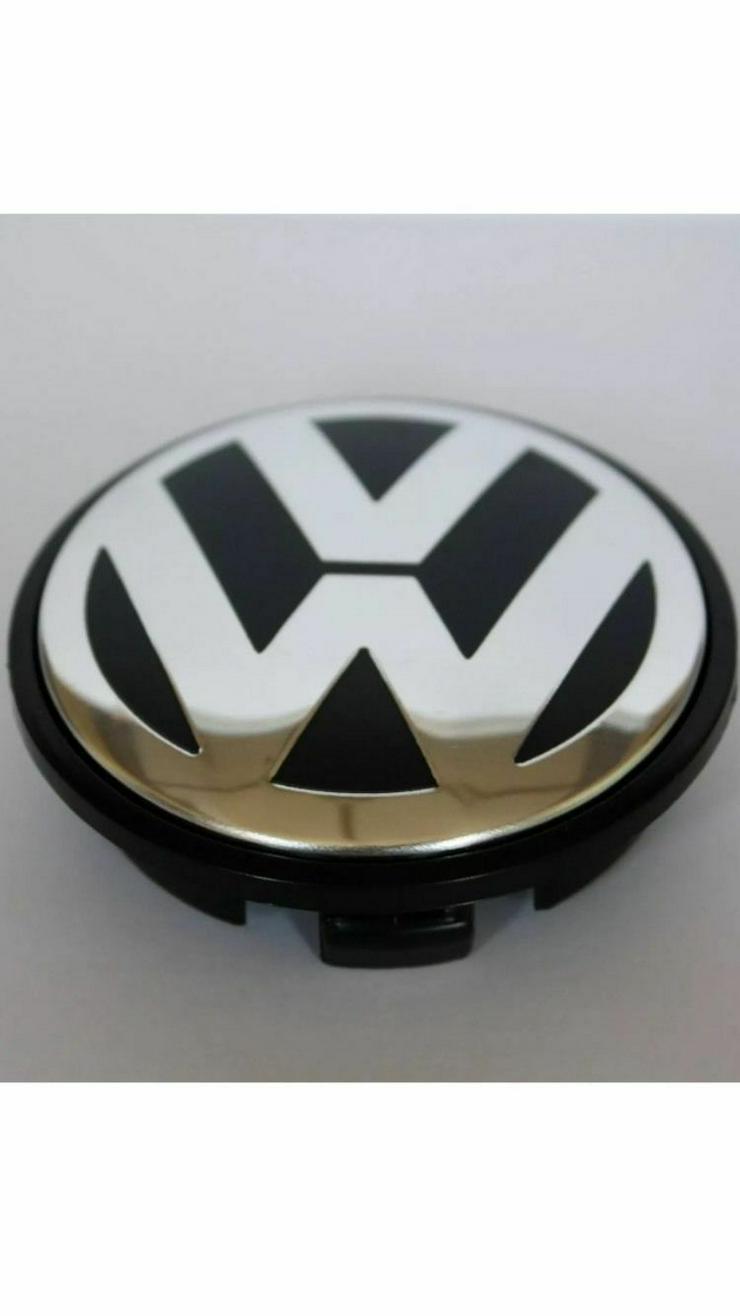 Original 4 Stück VW Volkswagen Nabenkappen Nabendeckel Felgendeckel 76 mm 7L6601149