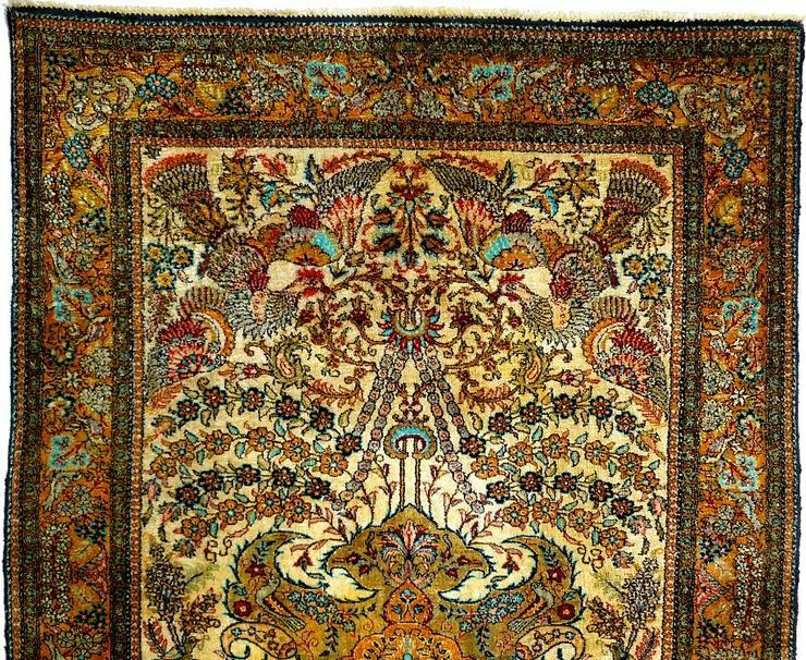Bild 2: Orientteppich Ghom Seide 158x110 alt (T093)