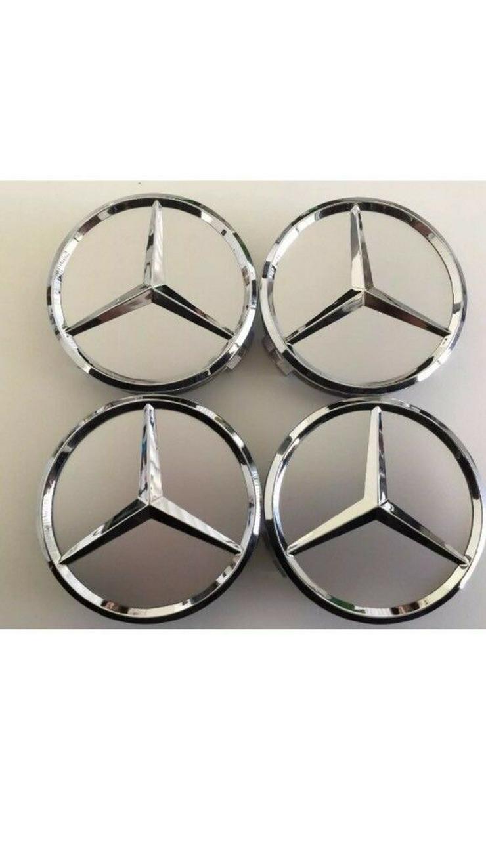 Silber Chrom 4 Stück  Mercedes-Benz Nabendeckel Nabenkappe A1714000025