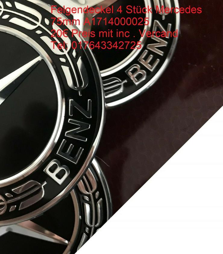 Schwarz Sterne 4 Stück  Mercedes-Benz Nabendeckel Nabenkappe A1714000025