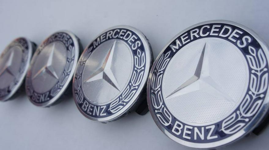 Dunkelblau 4 Stück Mercedes-Benz Nabendeckel Nabenkappe A1714000025
