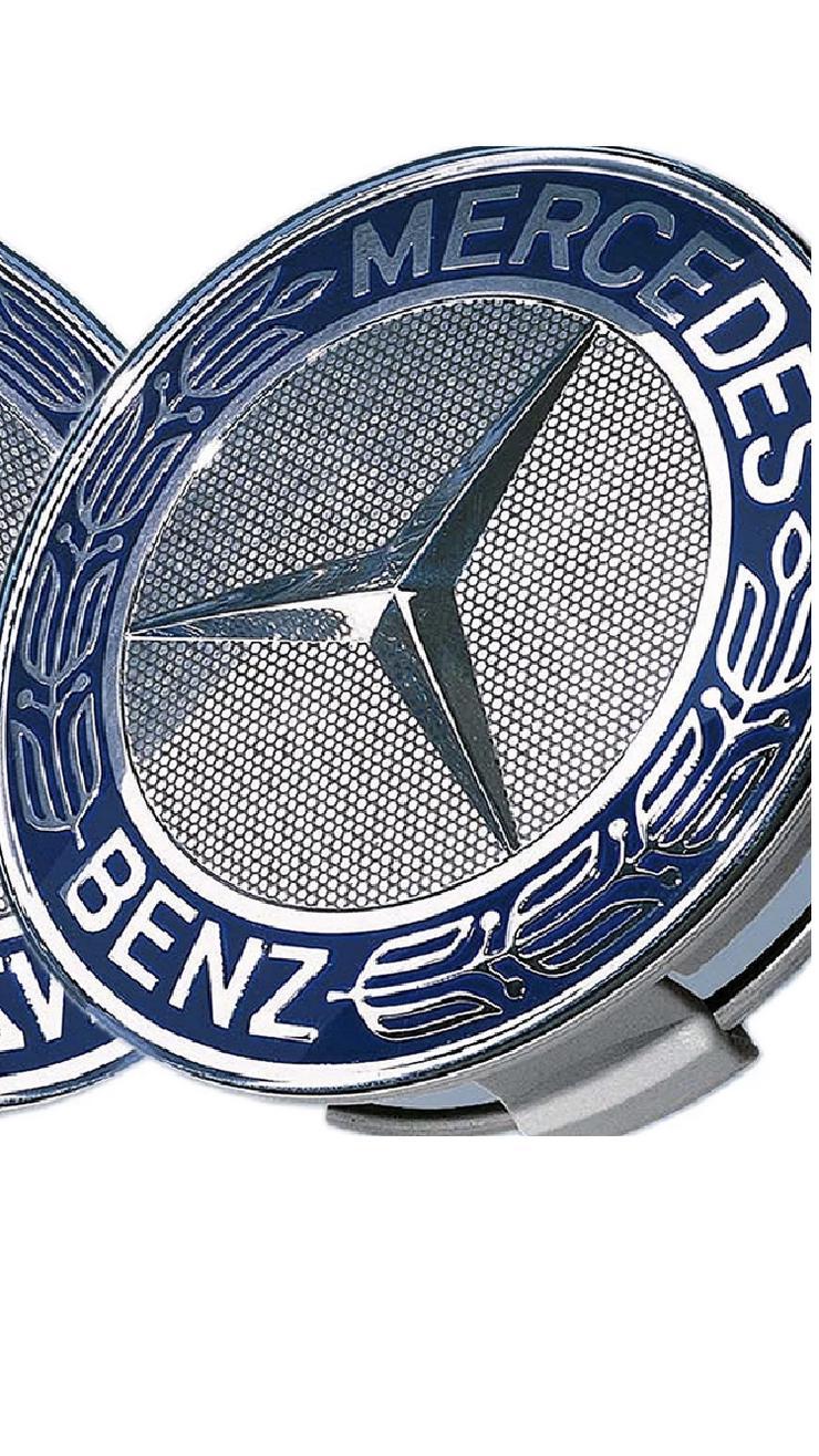 Blau 4 Stück  Mercedes-Benz Nabendeckel Nabenkappe Felgendeckel A1714000025