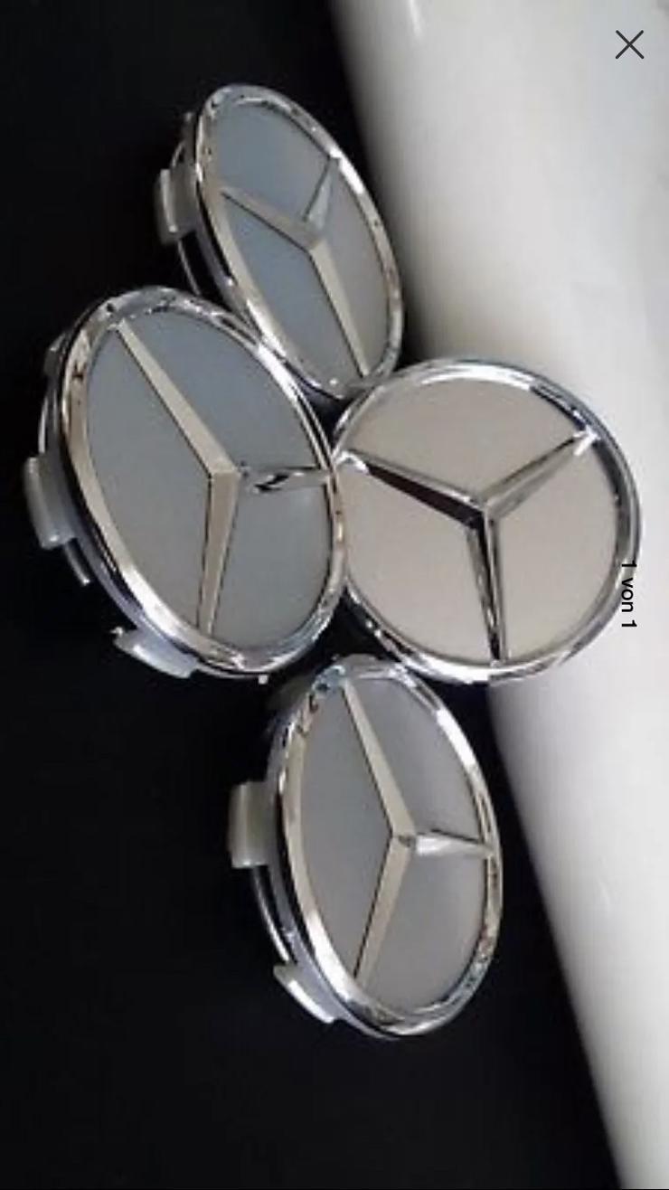 4 Stück 60mm Silber Mercedes-Benz AMG Nabendeckel Nabenkappen A4154002800