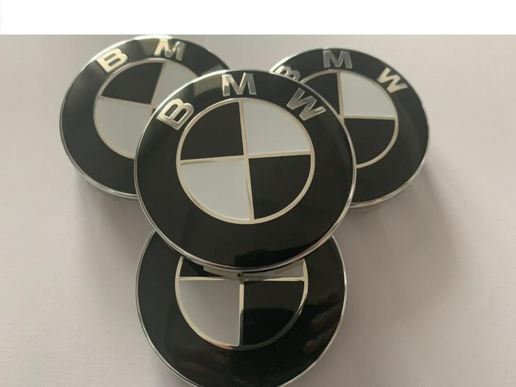 4 Stück NEU BMW 68mm NABENKAPPEN Nabendeckel Schwarz 36136783536