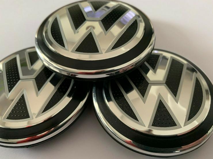 Original 4 Stück VW Volkswagen Nabenkappen Nabendeckel Felgendeckel 65 mm 5G0601171