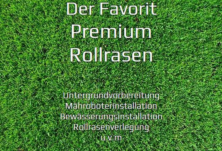 Premiumrollrasen ab 7€ je m² inkl. verlegen
