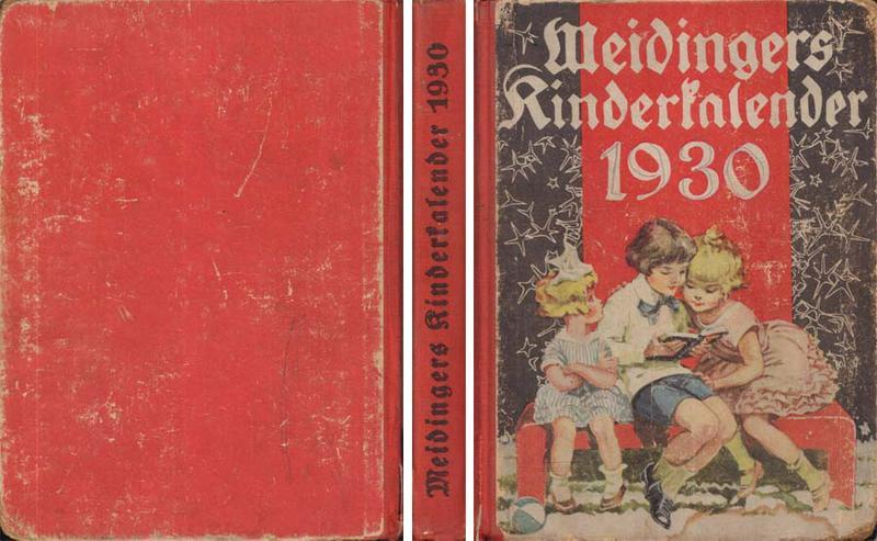 Buch - Meidingers Kinderkalender für das Jahr 1930 - 33. Jahrgang