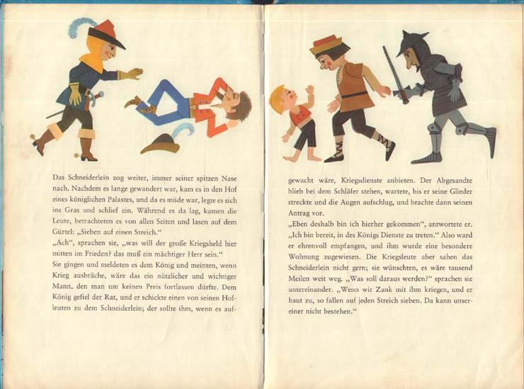 Bild 3: Beschäftigungsbuch - Das tapfere Schneiderlein - DDR Kinderbuch