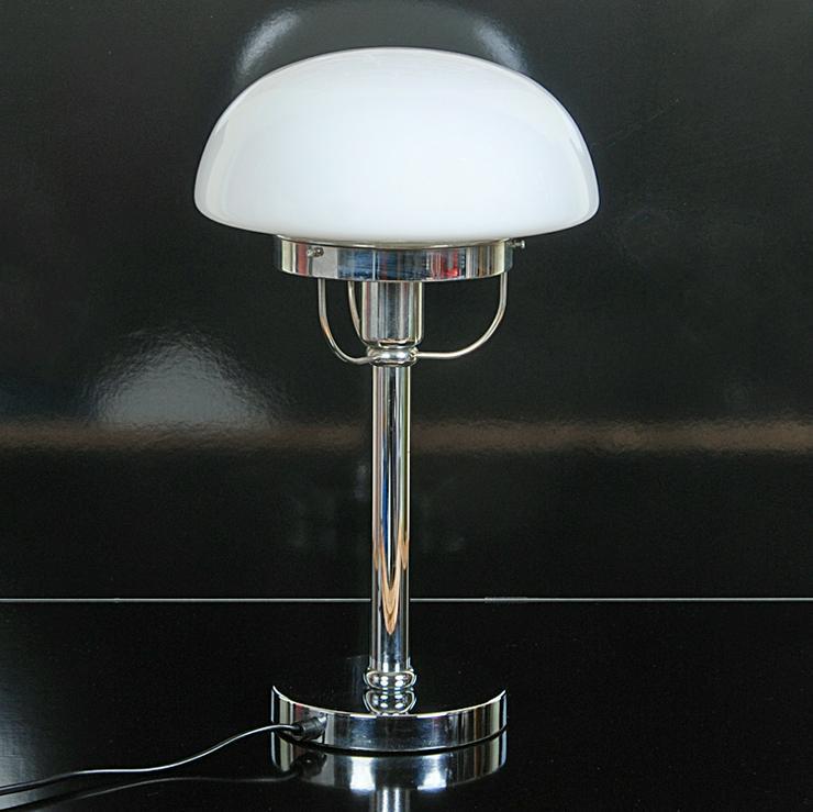 Tischleuchte Vienna Chrom Glas