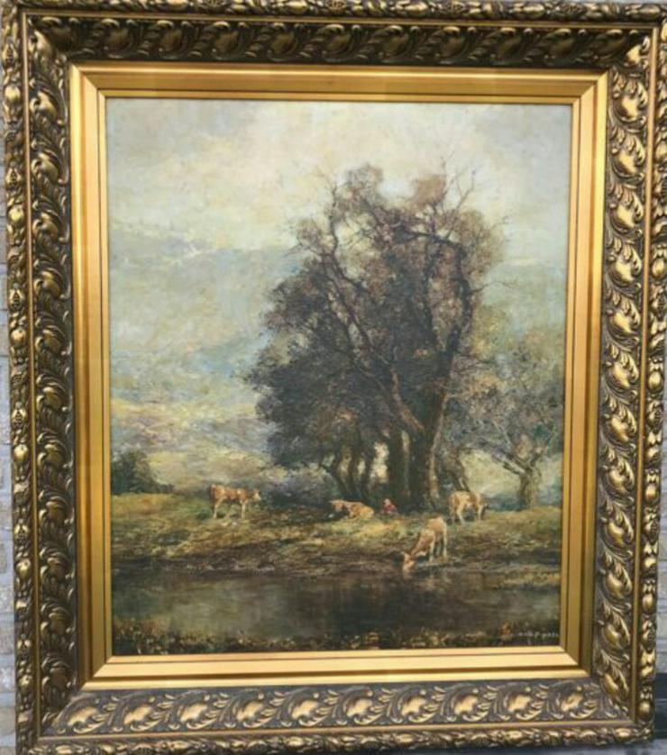 Otto Pippel ca. 100 x 85 cm . Prunkrahmen