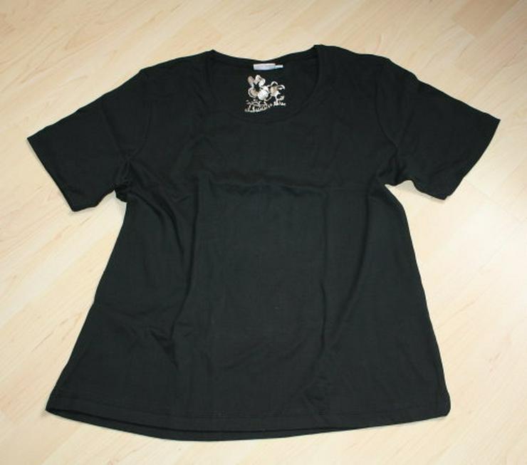 Damen Kurzarm T-Shirt Basic Shirt Kurzarmshirt schwarz Gr. 44 L