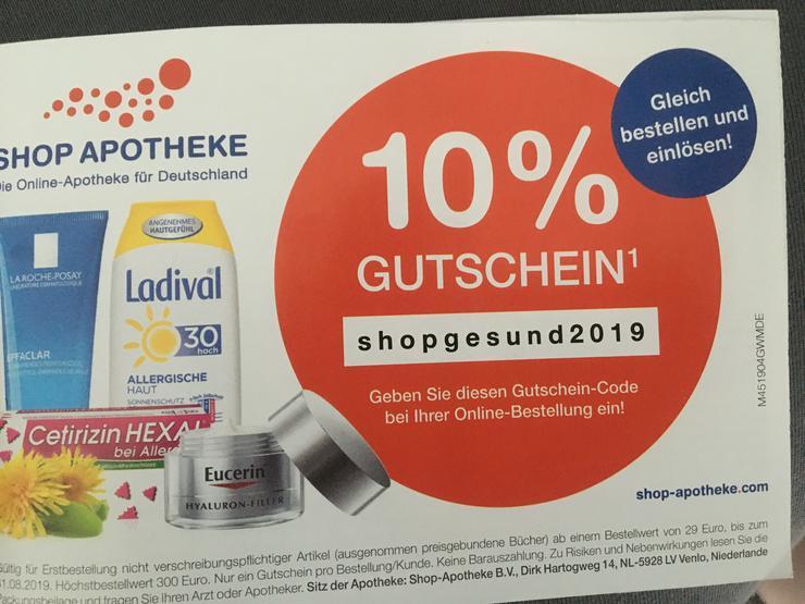 """Shop-Apotheke Gutschein """"shopgesund2019"""" 10 % - Apotheke & Gesundheit - Bild 1"""