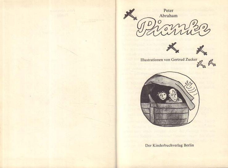 Bild 2: Kinderbuch von Peter Abraham - Pianke - Der Kinderbuchverlag Berlin DDR