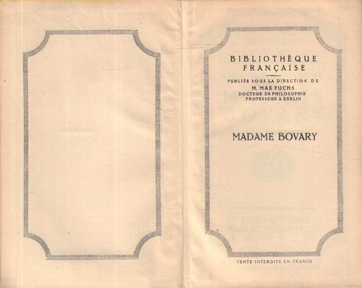 Bild 2: Buch von Gustave Flaubert in Französisch - Madame Bovary - Moeurs de Province