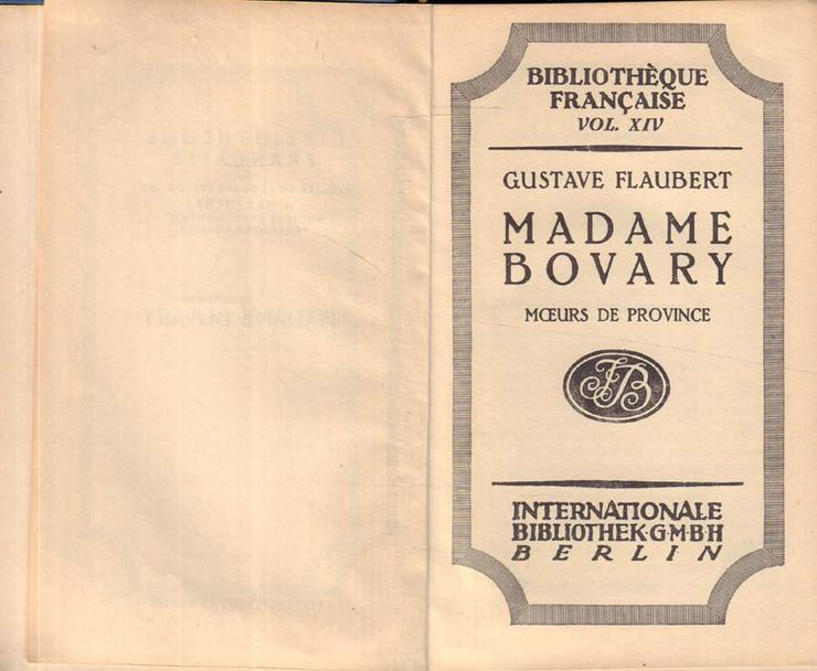 Bild 3: Buch von Gustave Flaubert in Französisch - Madame Bovary - Moeurs de Province