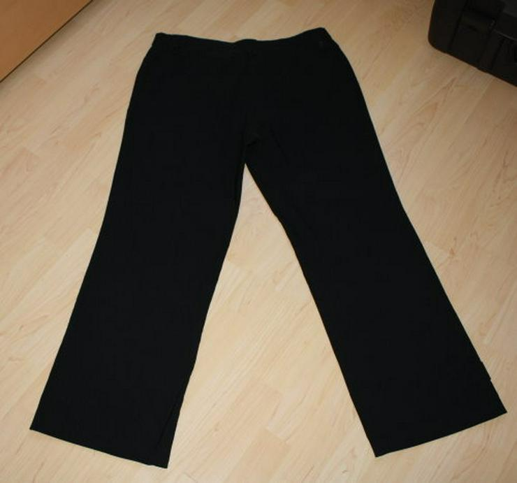 Bild 4: Damen Bengalin Hose Stretchhose Business Stoffhose schwarz 44 L