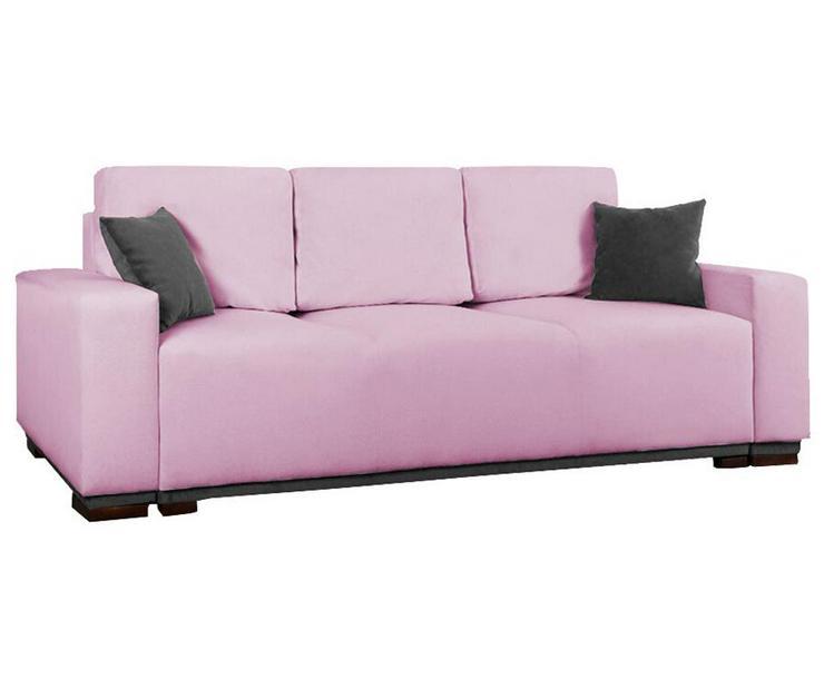Schlafsofa Couch Kissen Dreisitzer Stauraum Rosa mit Aufbewahrungsbox mit Schlaffunktion Farben zur Auswahl