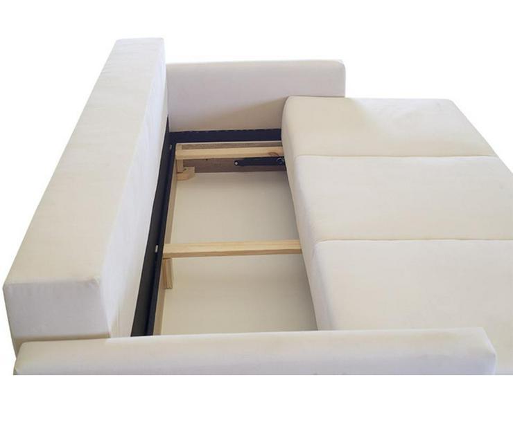 Bild 6: Schlafsofa Couch Kissen Dreisitzer Stauraum  mit Aufbewahrungsbox mit Schlaffunktion Farben zur Auswahl