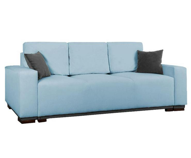 Schlafsofa Couch Kissen Dreisitzer Stauraum  mit Aufbewahrungsbox mit Schlaffunktion Farben zur Auswahl  - Sofas & Sitzmöbel - Bild 1