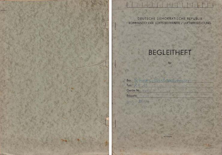 Begleitheft DDR Kommando der Luftstreitkräfte / Luftverteidigung um 1977