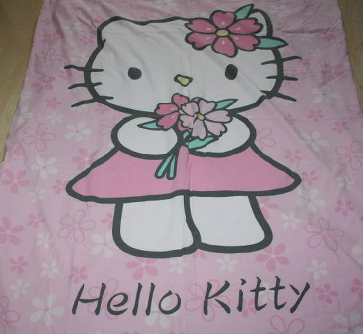 Kinder Bettwäsche Hello Kitty rosa pink 135x200 Garnitur Set 2tlg