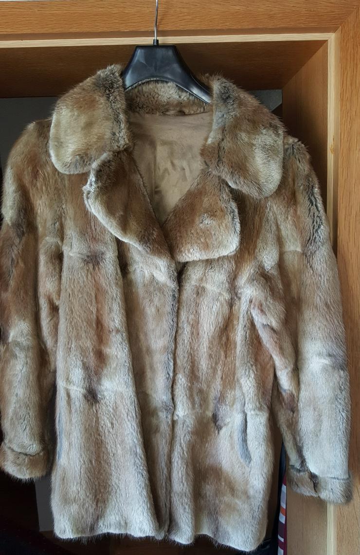Bisam Echtpelz Jacke Größe 46/48 Echt Pelz - Größen 44-46 / L - Bild 1