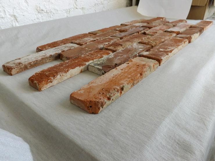 Bild 3: Antikriemchen Steinriemchen Mauerverblender Ziegelriemchen Mauerziegel antik retro Riemchen Verblender Klinker Ziegel Backstein Fliese
