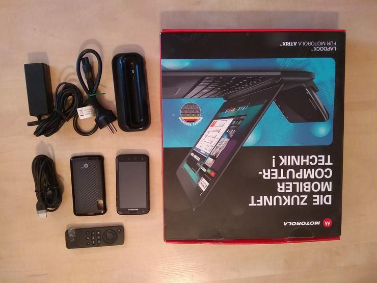 MPTOROLA LAPDOCK + MOTOROLA SMARTPHONE ATRIX 680 + ZUBEHÖR VB 150,00 - Notebooks & Netbooks - Bild 1