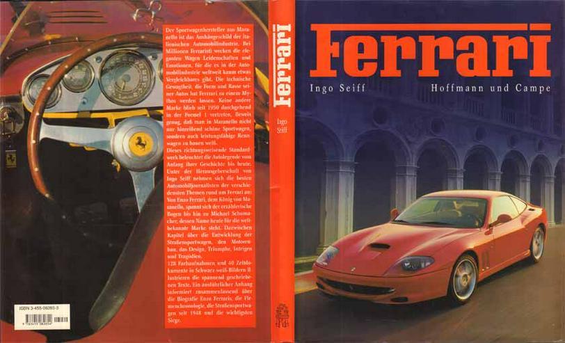 FERRARI - ein Bildband herausgeben von Ingo Seiff - 1998 - mit 128 Farbaufnahmen