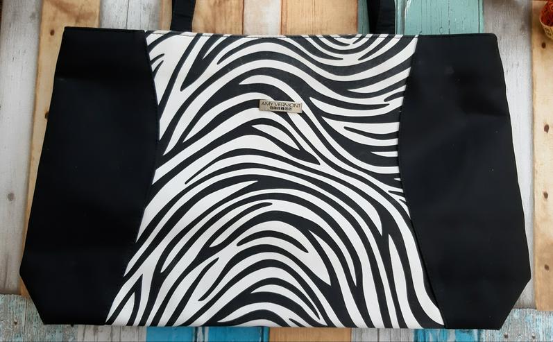 Tasche schwarz/ weiß