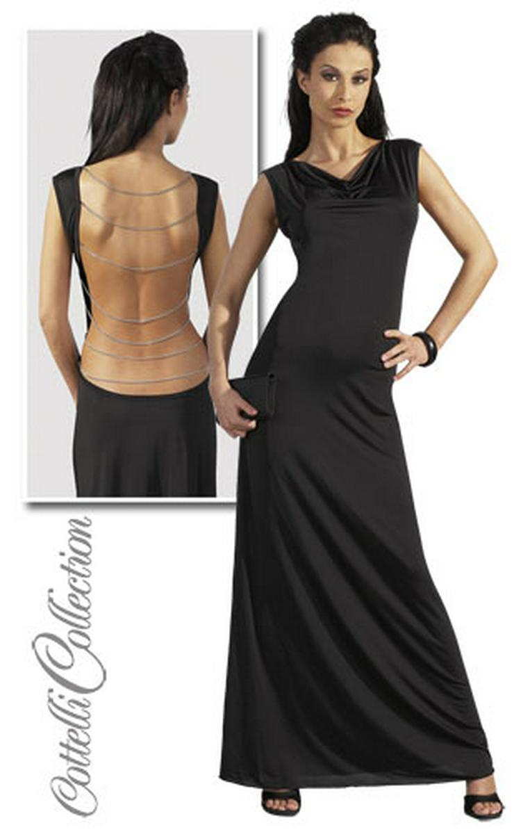 Damen Kleid lang rückenfrei schwarz Maxikleid Abendkleid M 40/42
