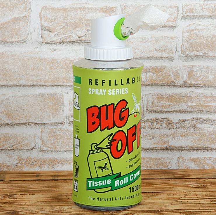 Spender Küchenrolle Toilettenpapier Spraydose Bug Off Tissue Roll Cover XXL