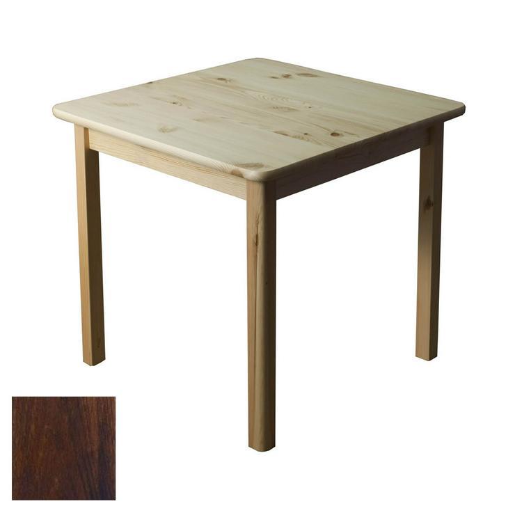 Tisch Holztisch Kiefernholz 60x60 Küchentisch Beistelltisch Nuss