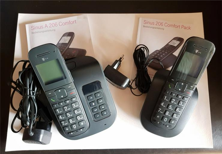 Telefon für Senioren Sinus A 206 Comfort + 2. Mobilteil